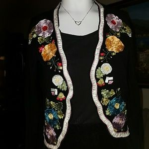FANCY VINTAGE CROP CARDIGAN